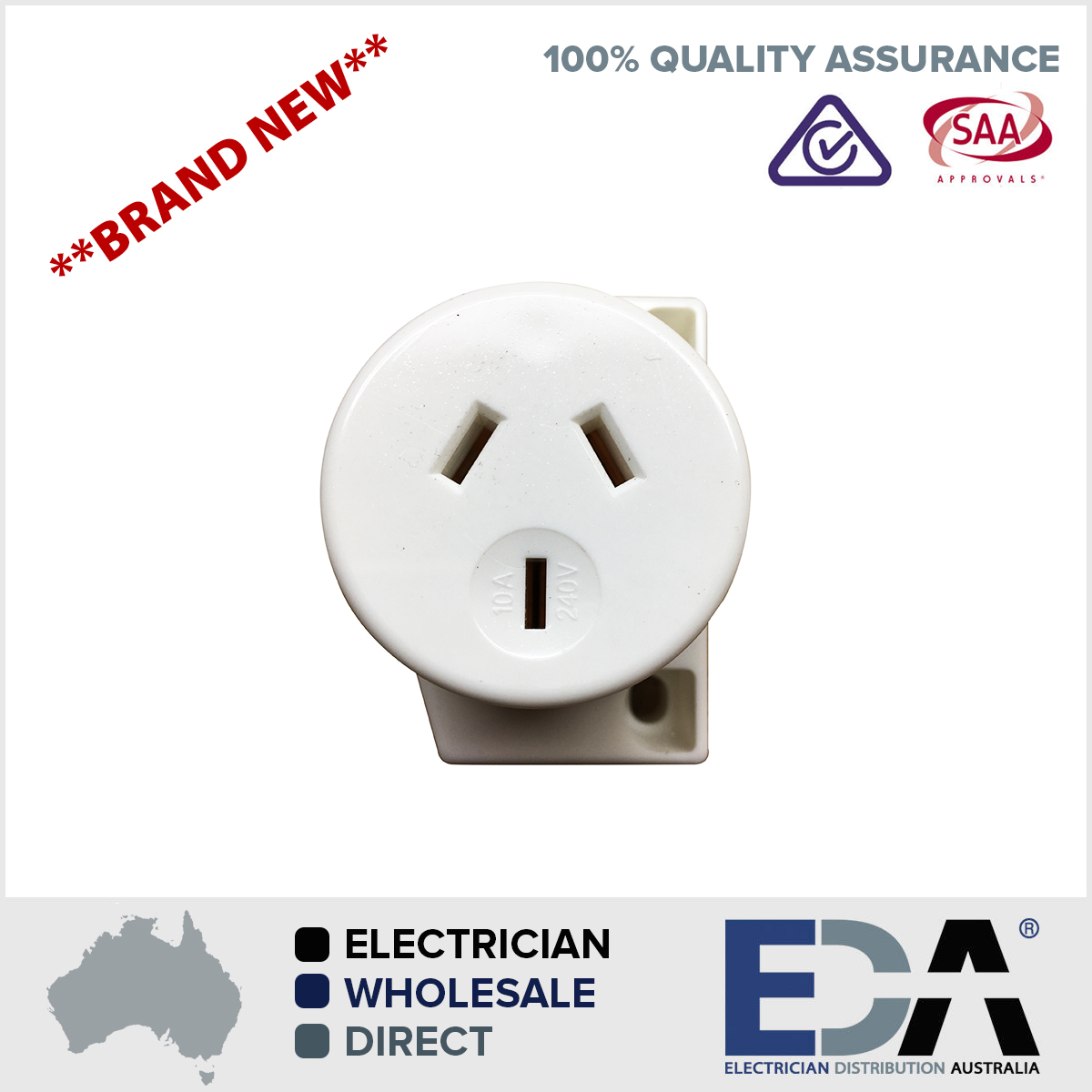 Australia Power Socket Quick Fit Surface Socket Plug Base Fan Base Transfast Electrical Socket Outlets For 2 5mm Cable