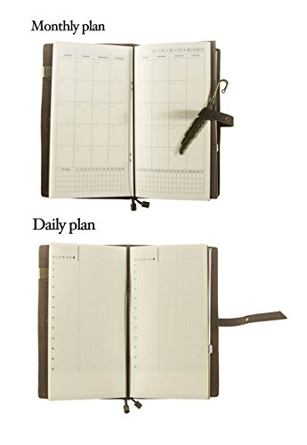 UNIQUE HMLN Genuine Leather Academic Planner 2017 Daily Monthly