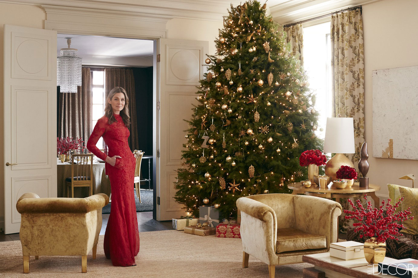 Celebrity Home Decorating Aerin Lauder Manhattan Home Holiday Entertaining Secrets