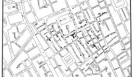 John Snow map of London cholera outbreak
