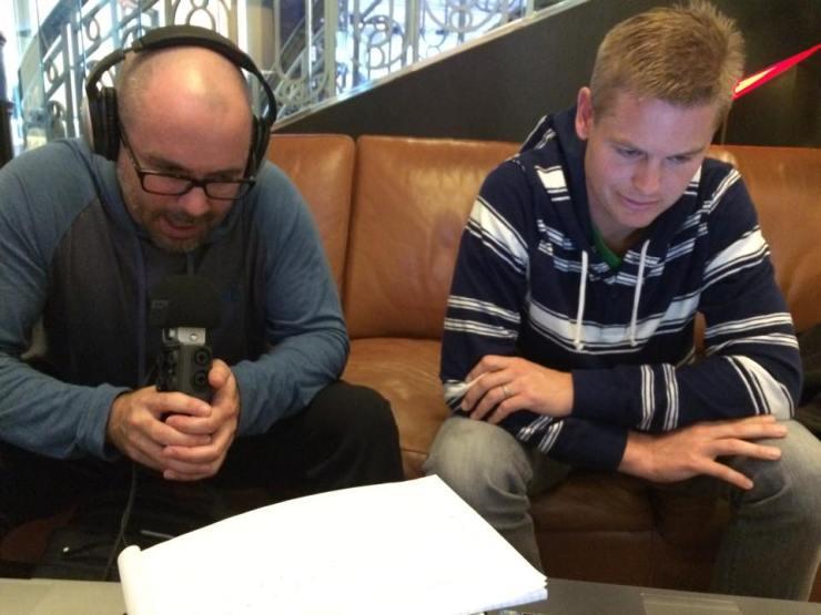 Joe & Zack recording