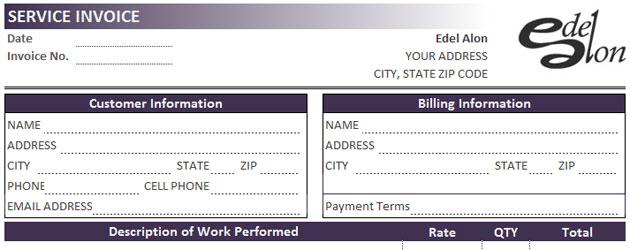 Invoice Template Excel 2013 Edel Alon