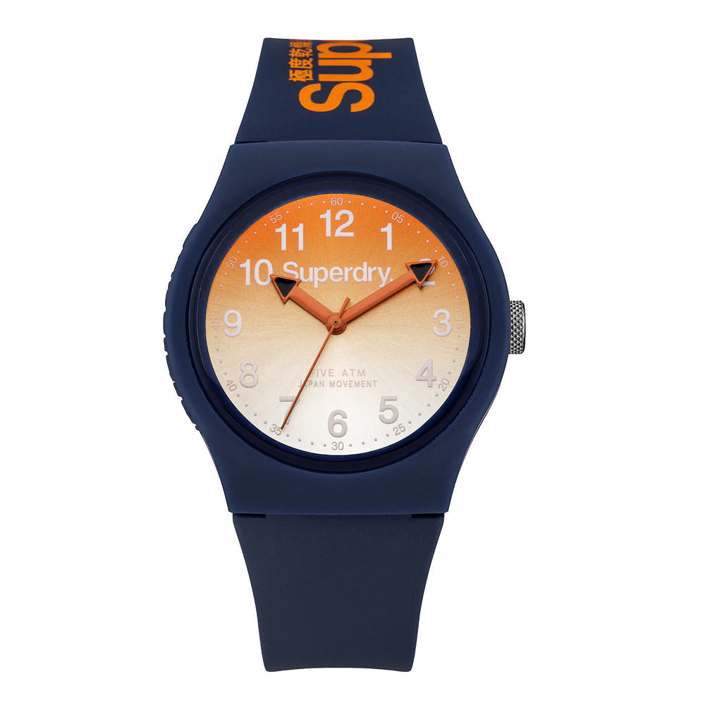 Uhr Blau Urban Laser Blau Orange