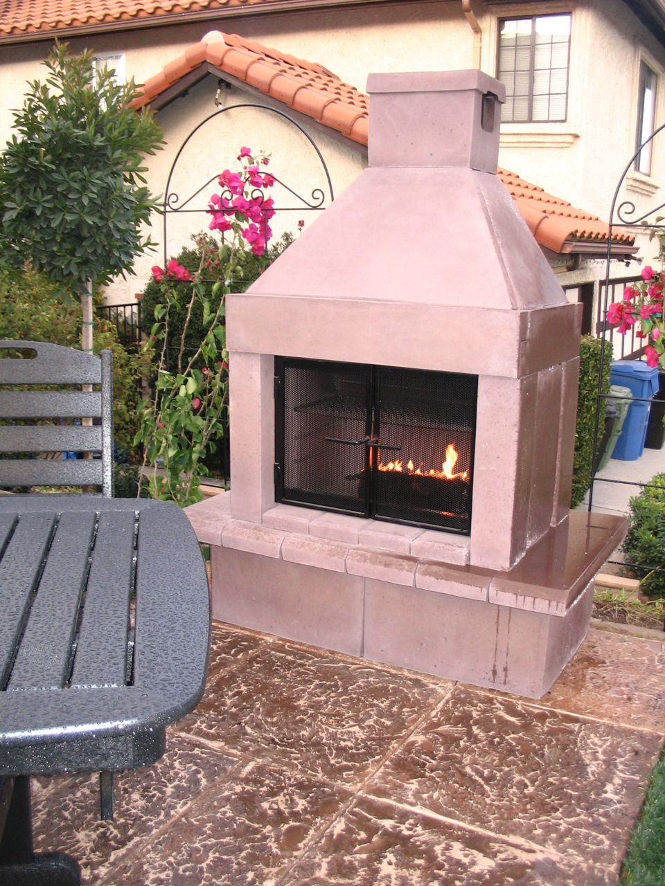DIY  Modular Outdoor Fireplace by Mirage Stone | Eden Makers Blog by Shirley Bovshow