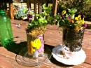 Recycled Soda Bottle Planter with Decopauge by Shirley Bovshow