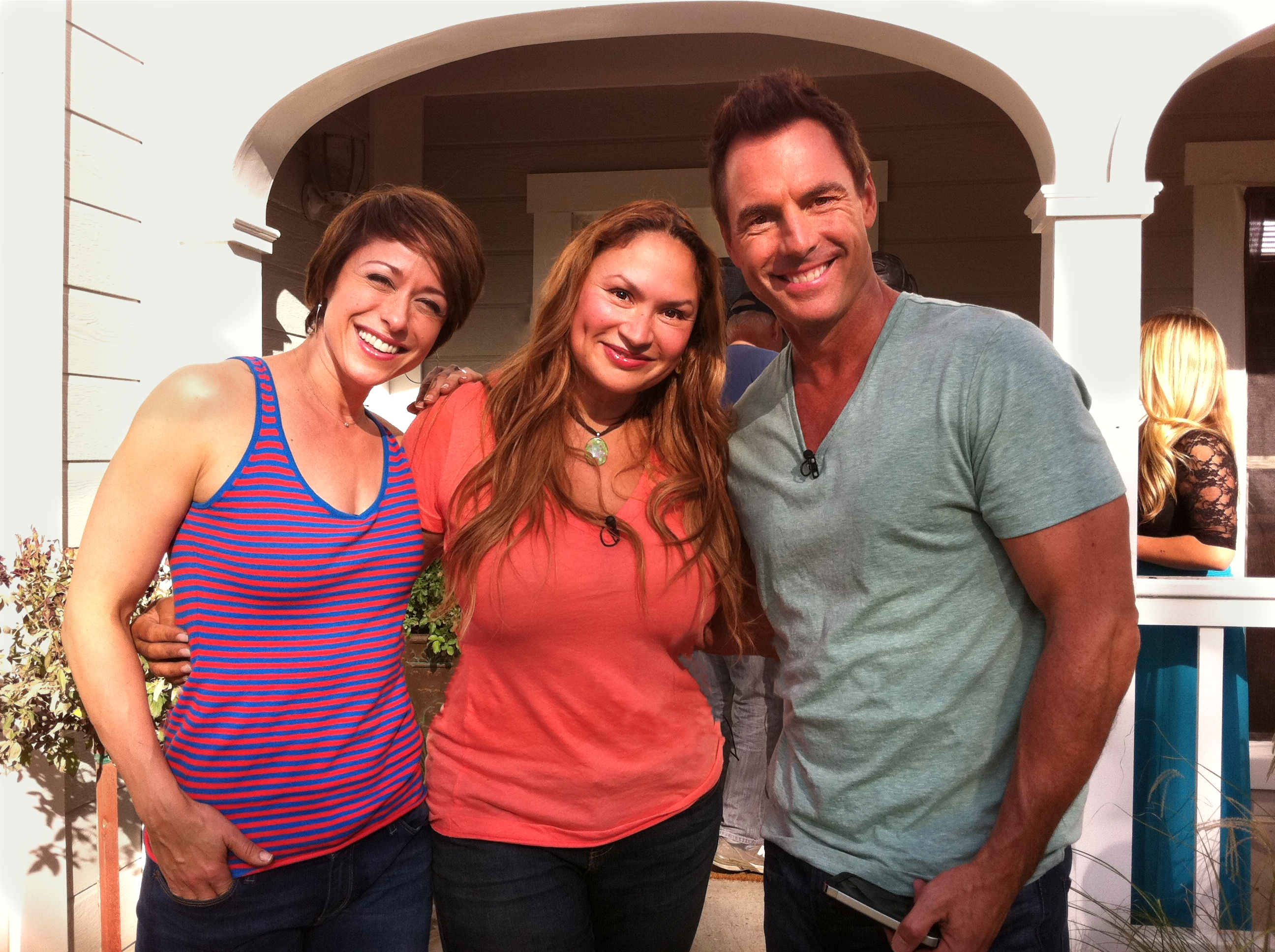 Home-and-Family-Show-Guest Garden-Expert-Shirley-Bovshow with Host-Paige-Davis-Mark_Steines