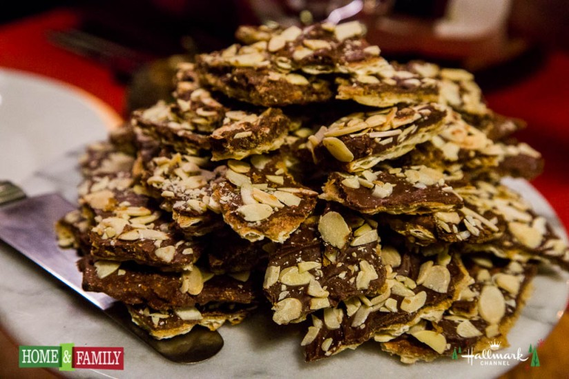 Hallmark Home and Family show matzoh toffee by shirley bovshow primetime holiday special show edenmakers blog