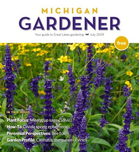 Cover of the Michigan Gardener magazine