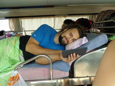 Partway through a 50-hour bus journey through Asia