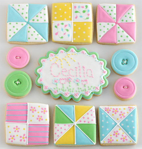 Sewing and Quilting Cookies – Edible Crafts