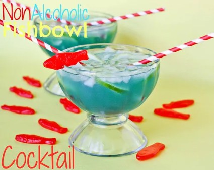 Non alcoholic fishbowl cocktail edible crafts for Fish bowl drink recipe