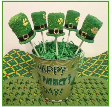 st patricks day cake pops