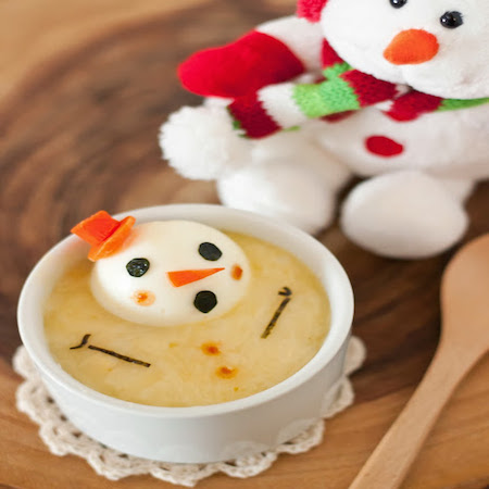 Cheesy Melting Snowman