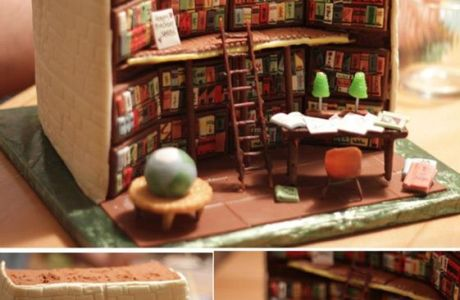 library-cake