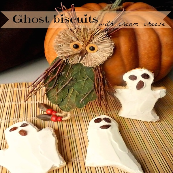 Ghost-biscuits-with-cream-cheese