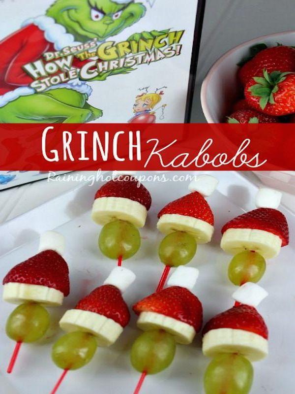 Grinch Kabobs