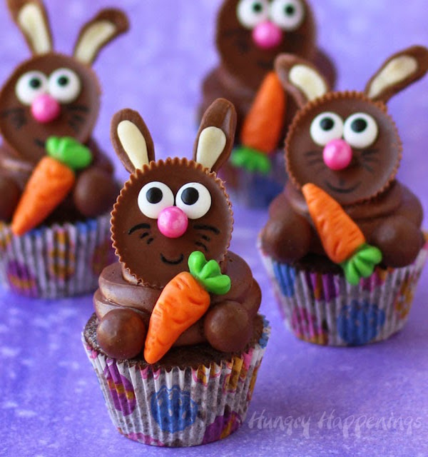 Reeses-cup-Easter-bunny-cupcakes