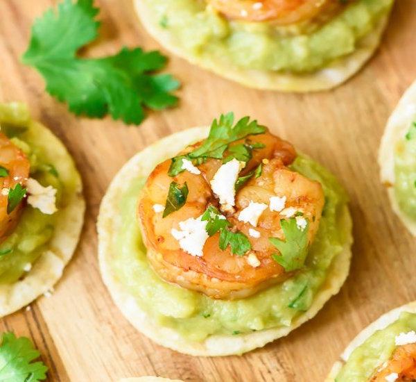 spicy shrimp guacamole bites