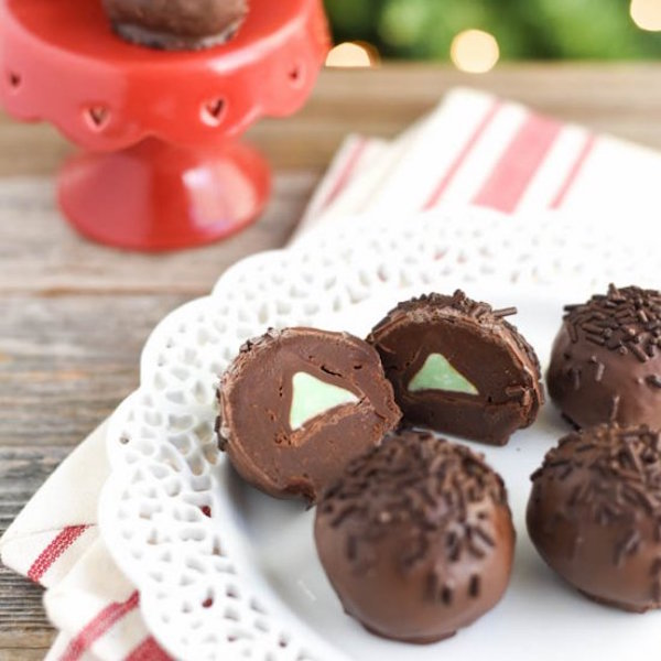 mint chocolate truffles