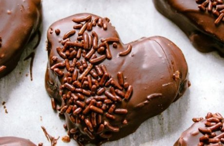 Chocolate Covered Oreo Truffle Hearts