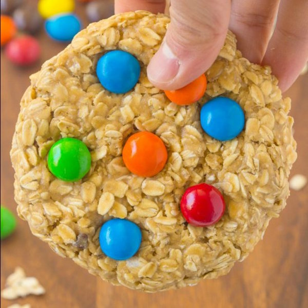 no bake giant monster cookie for one