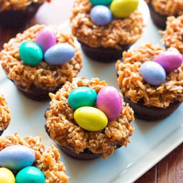 gluten-free nest brownie bites