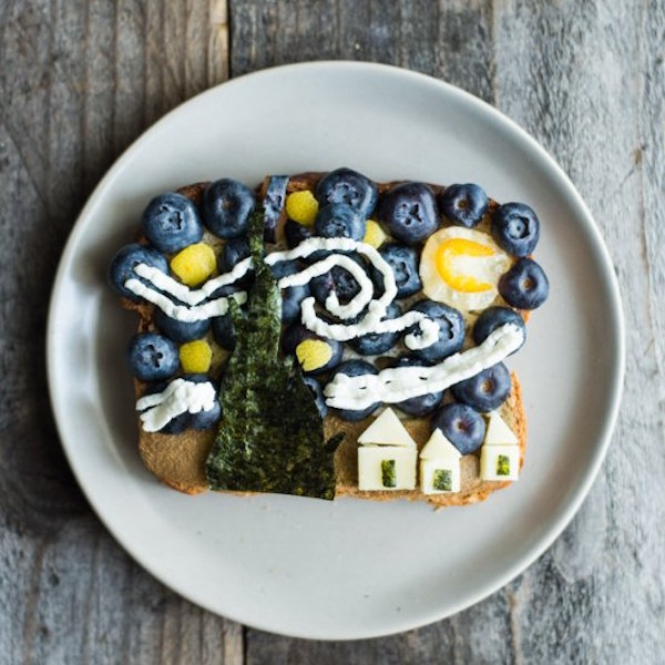 van gogh's starry night on toast