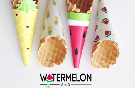 Watermelon and Pineapple Wrappers – Free Printables
