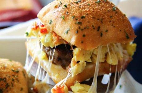 Bacon, Egg, Sausage, Cheese Breakfast Sliders