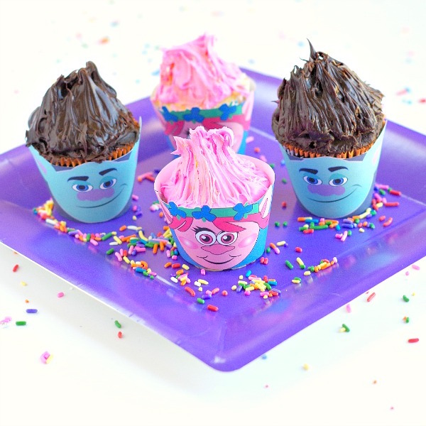 Troll cupcake wrappers edible crafts