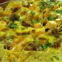 Saucy Super Bowl Roasted Garlic and BBQ Chicken Nachos