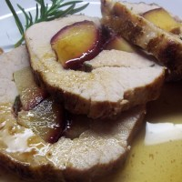 Plum Stuffed Rosemary Pork Loin