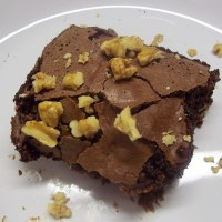 Porter Brownies with Walnuts