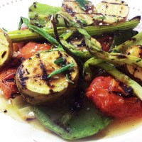 Grilled Vegetables with Rosemary Lemon Vinaigrette