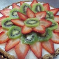 Strawberry Kiwi Tart with Almond Crust