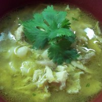 Chicken and Green Tomato Pozole
