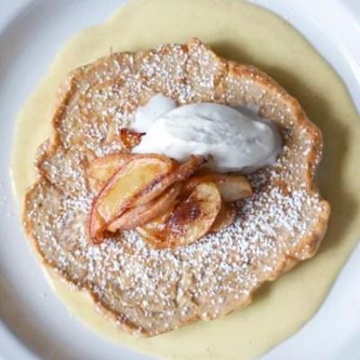 Caramelized apple pancakes, Bongo Room style