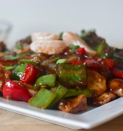 Chinese Stir Fry: Crispy orange chicken