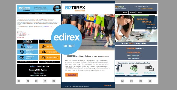 Email Marketing / Templates eDirex - personalized e mail