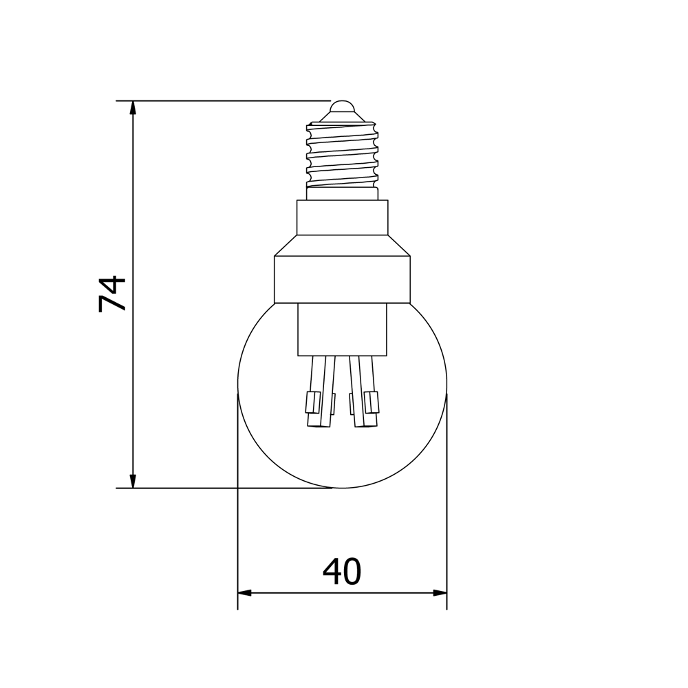 Led E 14 3 Watt Dimmable Led E14 Fancy Round Bulb