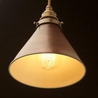 Bronze cone light shade pendant