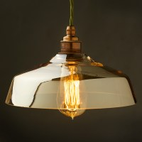 Coffee Glass light shade E27 pendant