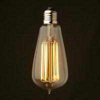 6 Watt Dimmable Lantern Filament LED E27 Clear Edison