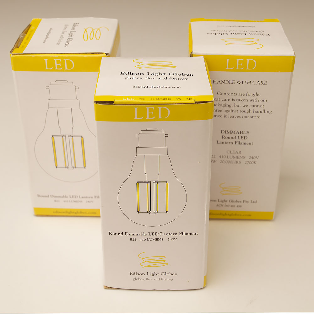 5 Watt Led 5 Watt Dimmable Lantern Filament Led B22 Clear Gls