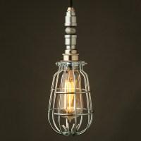 Plumbing Pipe Caged Pendant Light