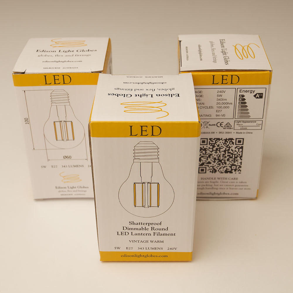 5 Watt Led 5 Watt Dimmable Filament Led E27 Shatterproof Gls