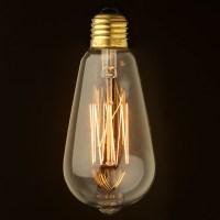 Vintage Edison Squirrel Cage Teardrop filament bulb 140mm E27