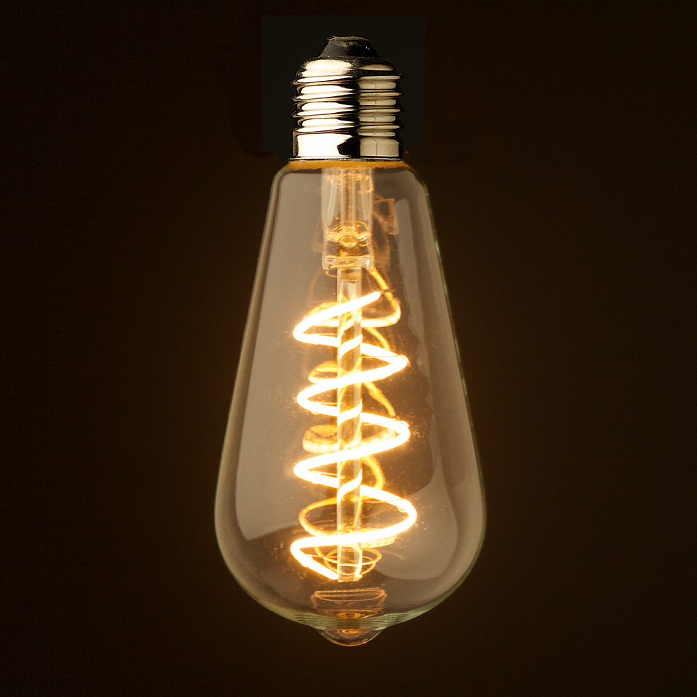 Edison Led 3 Watt Dimmable Spiral Filament Led E27 Clear Edison