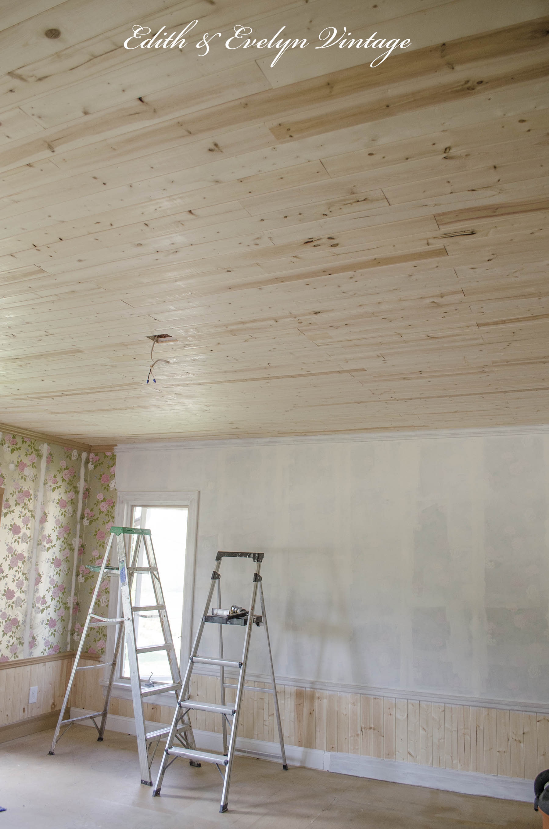 How to plank a popcorn ceiling How to disguise wood paneling