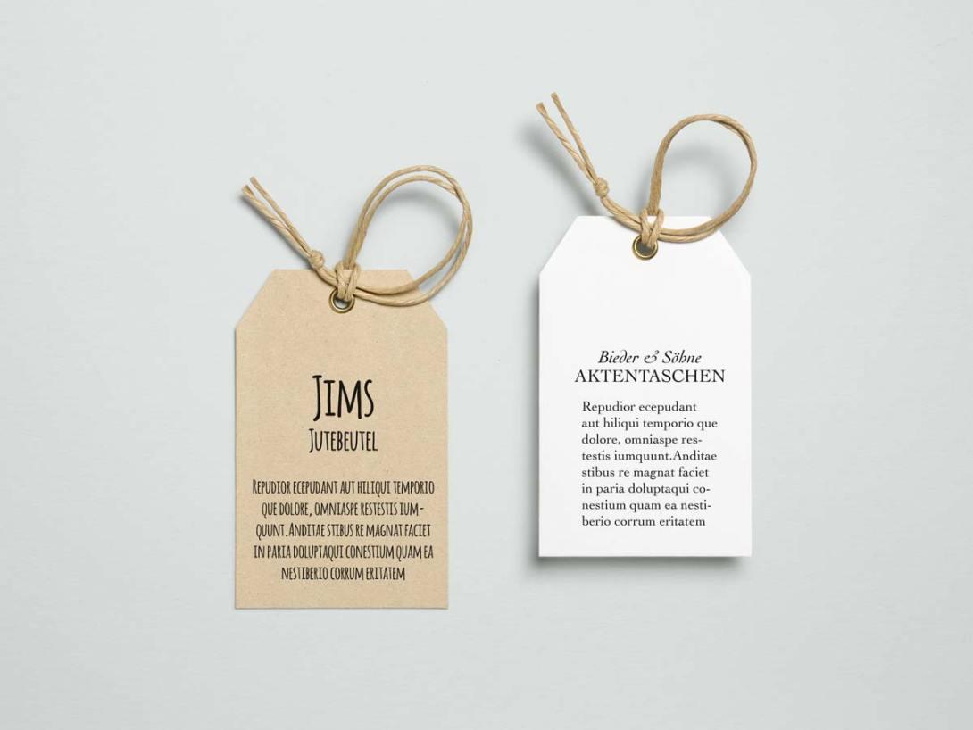 Unterschiedliche Schriften, unterschiedliche Wirkung auf Kunden